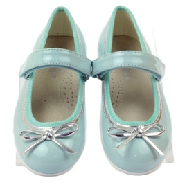 American Club Ballerinas pumps with an American bow green 4