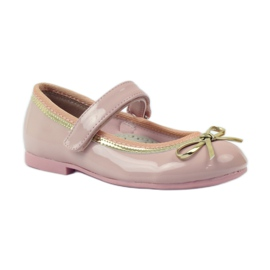 American Club Ballerinas shoes with an American bow pink 1