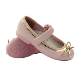 American Club Ballerinas shoes with an American bow pink 3