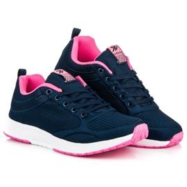 Ax Boxing Dark blue textile footwear 1