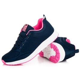 Ax Boxing Dark blue textile footwear 2