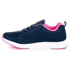 Ax Boxing Dark blue textile footwear 4