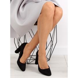 High heels pumps black B-18 black 2