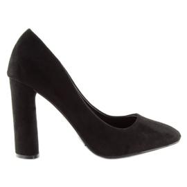 High heels pumps black B-18 black 5