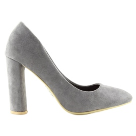 High heels pumps gray B-18 gray grey 5