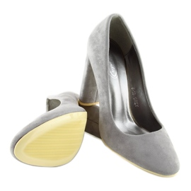 High heels pumps gray B-18 gray grey 1