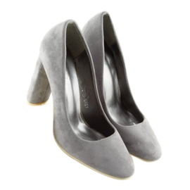 High heels pumps gray B-18 gray grey 4