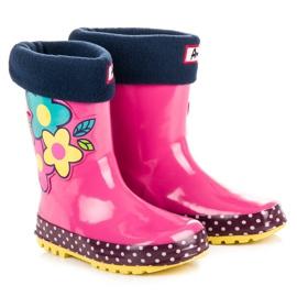 American Club Girls' galoshes in American flowers pink 5