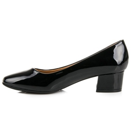 Lovery Lacquered pumps with low heels black 3