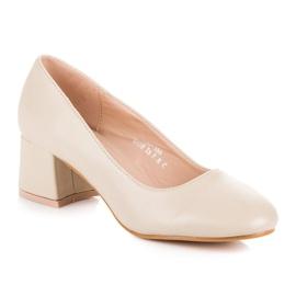 Renda Beige pumps with low heels 2