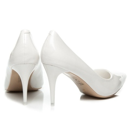 Comer Stylish lacquered heels white 1
