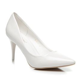 Comer Stylish lacquered heels white 2