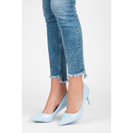 Comer Stylish lacquered heels blue 5