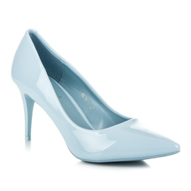 Comer Stylish lacquered heels blue 2