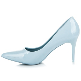 Comer Stylish lacquered heels blue 3