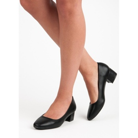 Lovery Black pumps with low heels 2