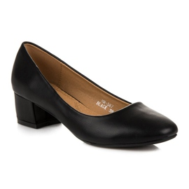 Lovery Black pumps with low heels 3