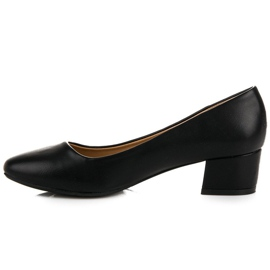 Lovery Black pumps with low heels 4