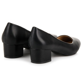 Lovery Black pumps with low heels 5