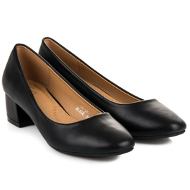 Lovery Black pumps with low heels 6