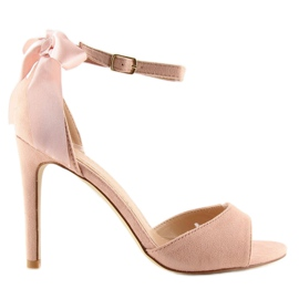 Sandals on a pink stiletto heel Z921-7SA-2 pink 7