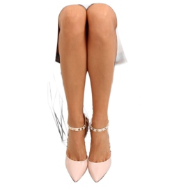 Pumps on studs with beige At 1