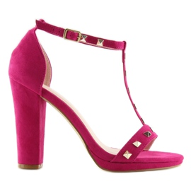 Sandals on the fuchsia A03 fuchsia pink 1