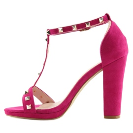 Sandals on the fuchsia A03 fuchsia pink 2