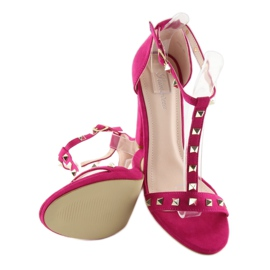 Sandals on the fuchsia A03 fuchsia pink 4