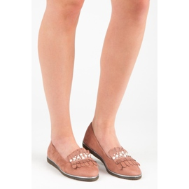 Moccasins with decoration pink 7