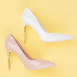 Seastar Heels with decorative heel pink 6