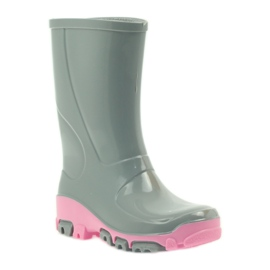 Galoshes with silver ions Ren But gray roses grey pink 1
