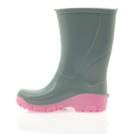 Galoshes with silver ions Ren But gray roses grey pink 2