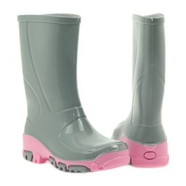 Galoshes with silver ions Ren But gray roses grey pink 3