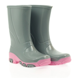 Galoshes with silver ions Ren But gray roses grey pink 4