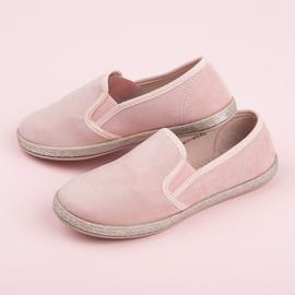 Mckeylor Suede espadrilles slip on pink 4