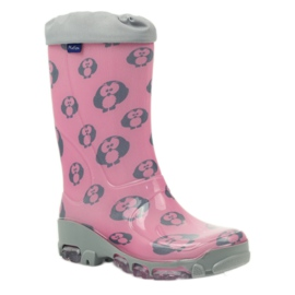Ren But Owl owl galoshes with Ren-Silver ions grey pink 1