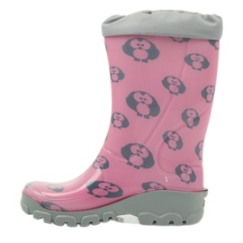 Ren But Owl owl galoshes with Ren-Silver ions grey pink 2