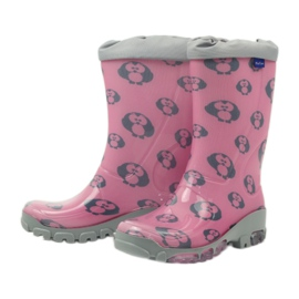 Ren But Owl owl galoshes with Ren-Silver ions grey pink 3