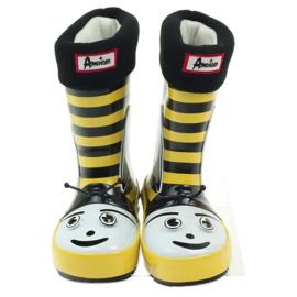 American Club American rubber boots children sock insole black yellow 4