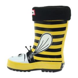 American Club American rubber boots children sock insole black yellow 2