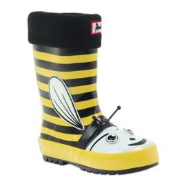 American Club American rubber boots children sock insole black yellow 1