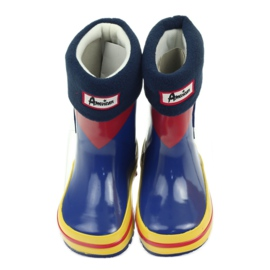 American Club American rubber boots children sock insole brown blue yellow red 4