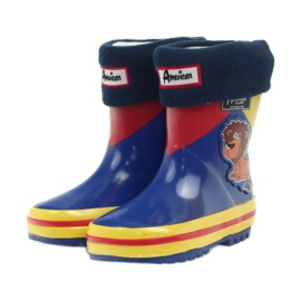 American Club American rubber boots children sock insole brown blue yellow red 3