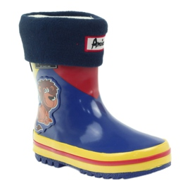 American Club American rubber boots children sock insole brown blue yellow red 1