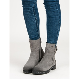 Gray Leather Boots from VINCEZA grey 1