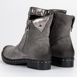 Gray Leather Boots from VINCEZA grey 5