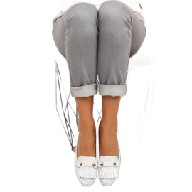 Moccasins in vintage style 3052 White 1