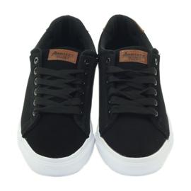 American Club American sneakers sneakers men's shoes black brown 4
