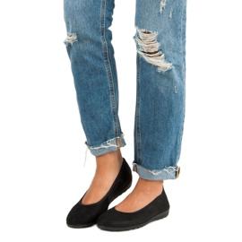 Filippo Black leather ballet shoes 3